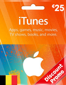 eur25 itunes gift card be discount promo