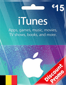 eur15 itunes gift card be discount promo