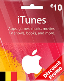 eur10 itunes gift card be discount promo
