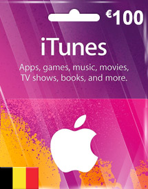eur100 itunes gift card be
