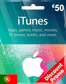 itunes eur50 gift card pt discount promo