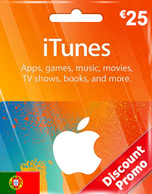 itunes eur25 gift card pt discount promo