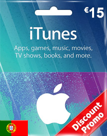 itunes eur15 gift card pt discount promo