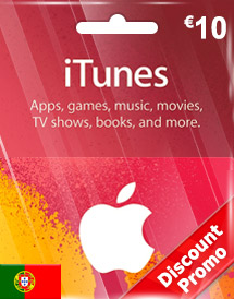 itunes eur10 gift card pt discount promo