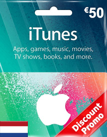 itunes eur50 gift card nl discount promo