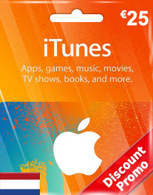 itunes eur25 gift card nl discount promo