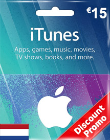 itunes eur15 gift card nl discount promo
