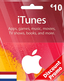 itunes eur10 gift card nl discount promo