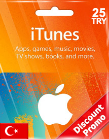 itunes tl25 gift card tr discount promo