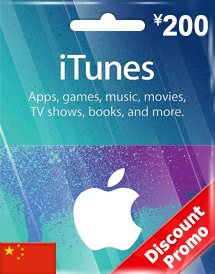 cny200 itunes gift card cn discount promo