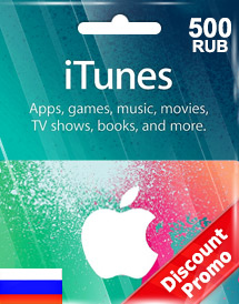 itunes 500rub gift card ru discount promo