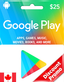 google play cad25 gift card ca discount promo