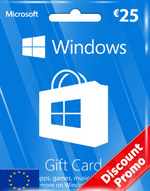 windows phone store eur25 gift card* eu discount promo
