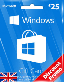 windows phone store gbp25 gift card* uk discount promo