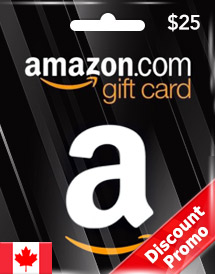 amazon gift card cad25 ca discount promo