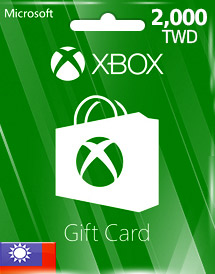 twd2,000 xbox live gift card tw
