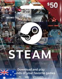 steam wallet code aud50 au
