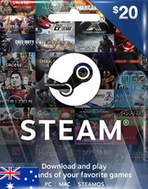 steam wallet code aud20 au