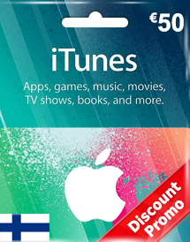 eur50 itunes gift card fi discount promo