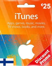 eur25 itunes gift card fi discount promo