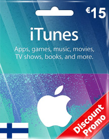 eur15 itunes gift card fi discount promo