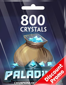 paladins 800 crystals global discount promo
