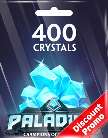 paladins 400 crystals global discount promo