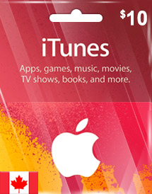 cad10 itunes gift card ca