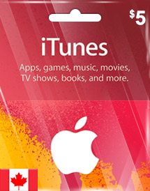 cad5 itunes gift card ca