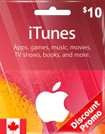 cad10 itunes gift card ca discount promo