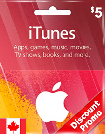 cad5 itunes gift card ca discount promo