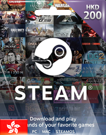 steam wallet 充值卡 200港币 香港