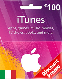 eur100 itunes gift card it discount promo