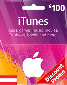 eur100 itunes gift card at discount promo