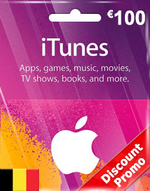 eur100 itunes gift card be discount promo