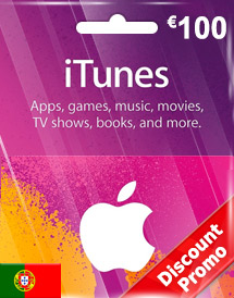 itunes eur100 gift card pt discount promo