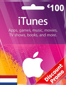 itunes eur100 gift card nl discount promo