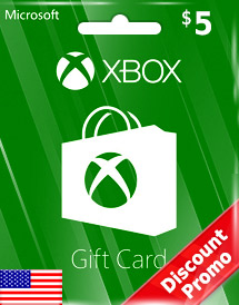 usd5 xbox live gift card us discount promo