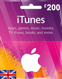 itunes gbp200 gift card uk