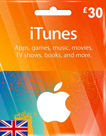 itunes gbp30 gift card uk