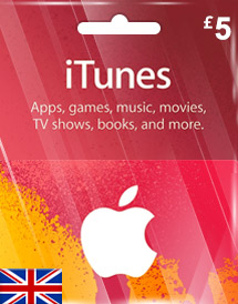 itunes gbp5 gift card uk
