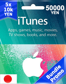 itunes 50,000yen gift card jp bundle promo