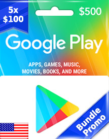 usd500 google play gift card us bundle promo