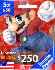 usd250 nintendo eshop prepaid card us bundle promo