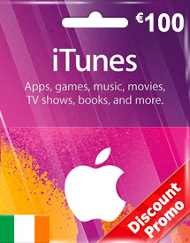 eur100 itunes gift card ie discount promo