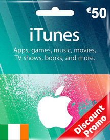 eur50 itunes gift card ie discount promo