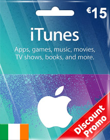 eur15 itunes gift card ie discount promo