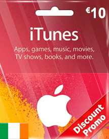 eur10 itunes gift card ie discount promo