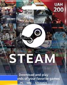 steam wallet code uah200 ua