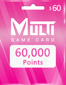 multi game card 60,000 points global